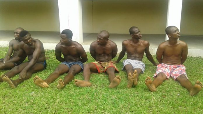 Some of the arrested suspects that were paraded
