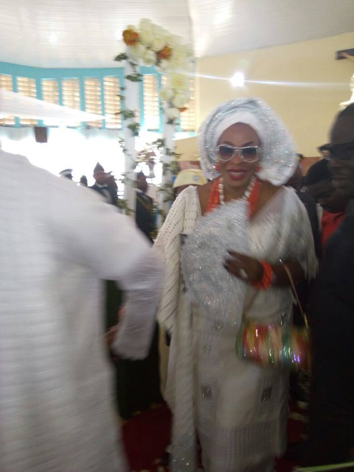 Obioma Imoke at the funeral