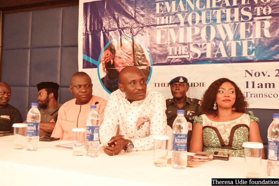 Speaker Cross River State House of Assembly (middle), Hon. Eteng Jones and Ms. Theresa Udie at the event