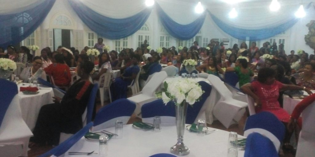 Attendees at the dinner for Cross River Women at Peregrino Hall
