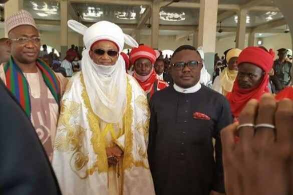 Governor Ayade and the Etsu Nupe during the event which just ended in Suleja