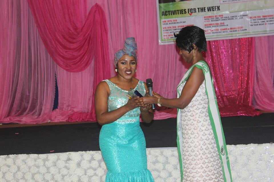 Dr. Betta Edu, Director General Cross River State Primary Health Care Development Agency receiving her award