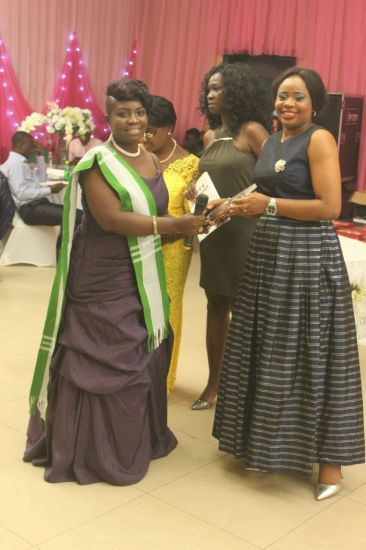 Dr. Inyang Asibong, Cross River Commissioner for Health receiving her award