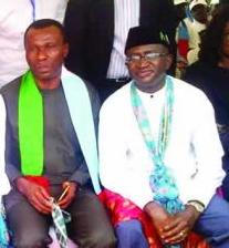 Minister of Niger Delta Affairs, Usani Usani and Chairman of NDDC, Ndoma Egba SAN (file pix)
