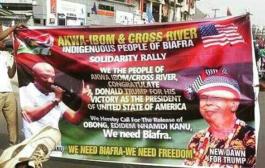 """Biafrans"" In Cross River, Akwa Ibom In Solidarity With Trump On Inauguration"