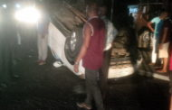 Family Of 7 Survive Hit From Military Truck As Car Somersaults In Calabar