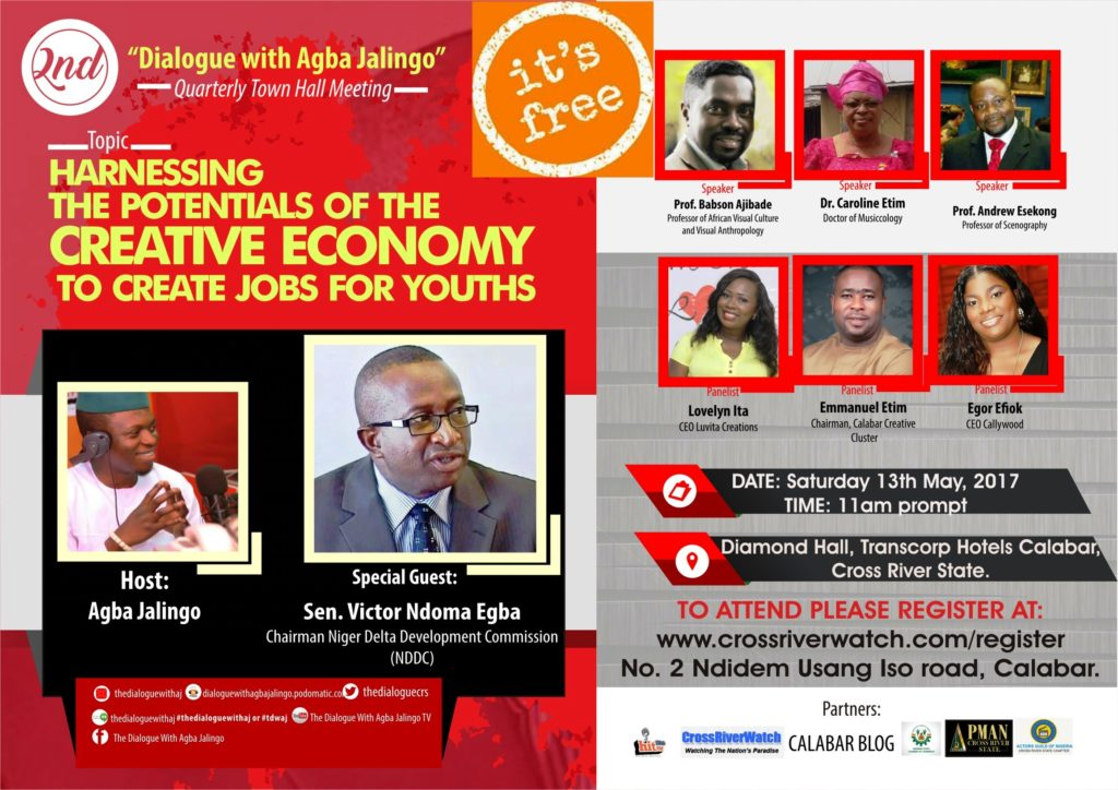 Second Dialogue With Agba Jalingo Town Hall Meeting To Hold May 13, Ndoma-Egba Is Special Guest