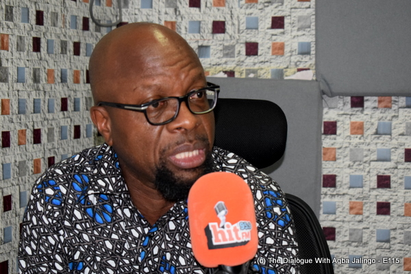 Eyo Ekpo while featured as guest on The Dialogue With Agba Jalingo on Hit FM