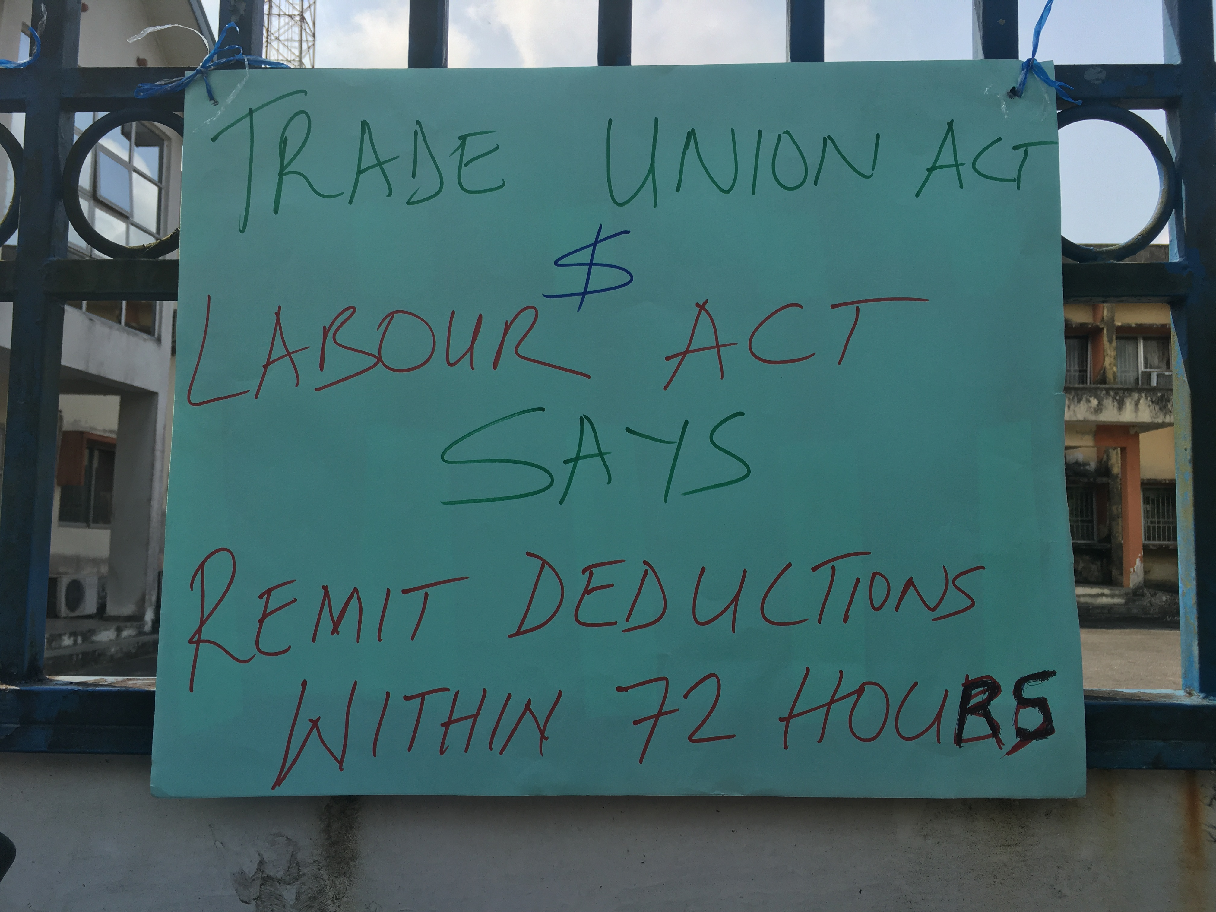 Labour unions NLC and TUC protest in Calabar January 11 2021
