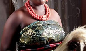 In this photograph released by the Stephen Okoi's family; Mrs. Mary Stephen Ugbome (nee Mary Stephen Okoi) poses for a photograph in traditional attire. Her paternal family claims She disappeared after arriving her in-laws palace in Okpai Kingdom, Umuada Quarters, Ndokwa East LGA of Delta State on December 24, 2020