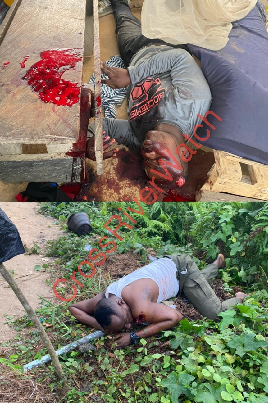 A collage of two out of the four policemen gunned down by kidnappers at Idundu.