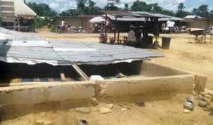 The Islamic worship center pulled down by angry Akpabuyo youths in Cross River (Credit: TheNation/Nsa Gill)