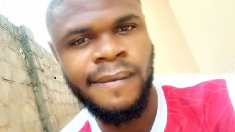 Enya Egbe (pictured) is still coming to terms with the loss of his friend (Credit: BBC)
